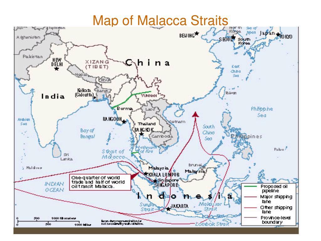 Map of Malacca Straits