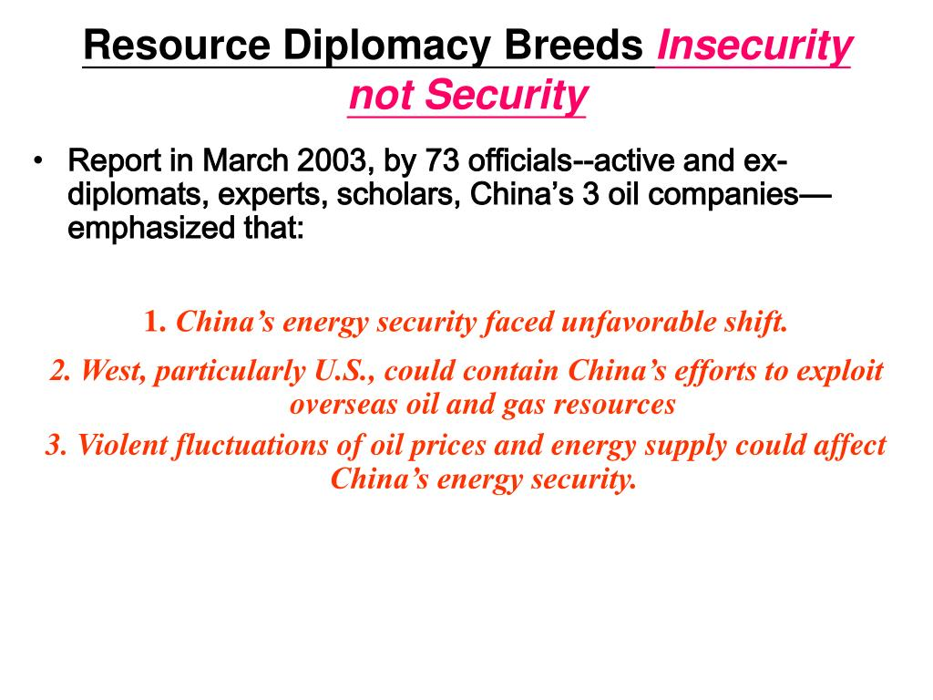 Resource Diplomacy Breeds