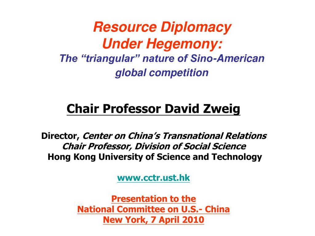 Resource Diplomacy