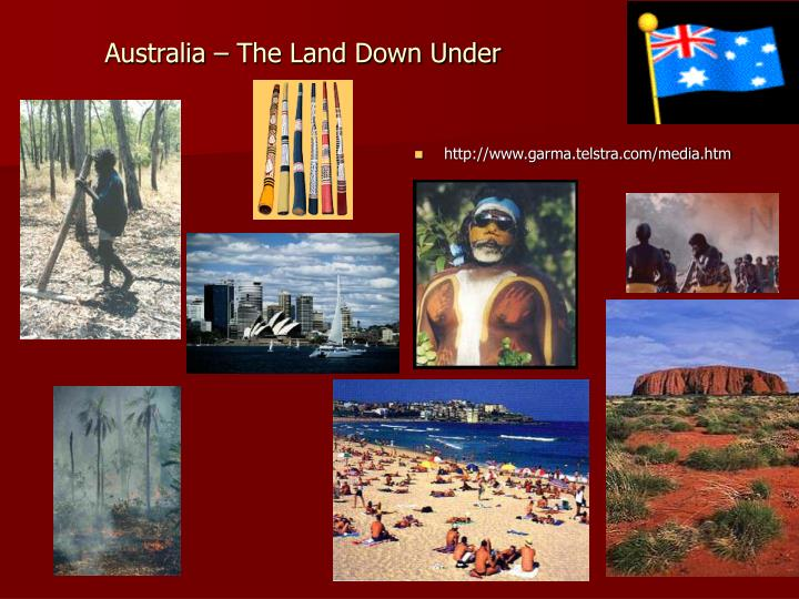 Australia the land down under