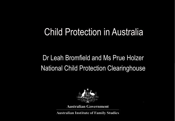 Child protection in australia
