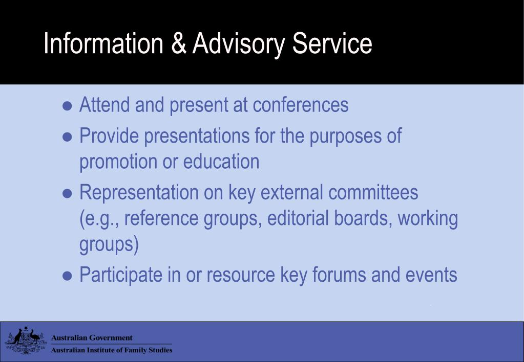 Information & Advisory Service