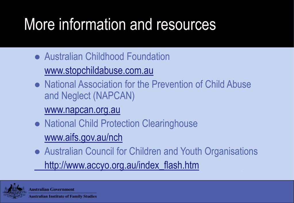 More information and resources
