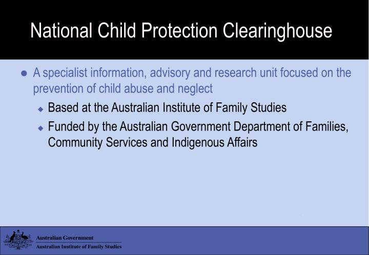 National child protection clearinghouse l.jpg