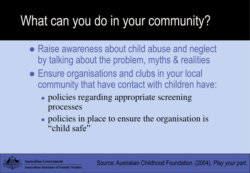 What can you do in your community?