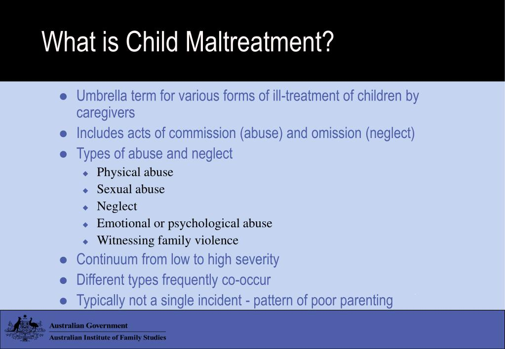 What is Child Maltreatment?