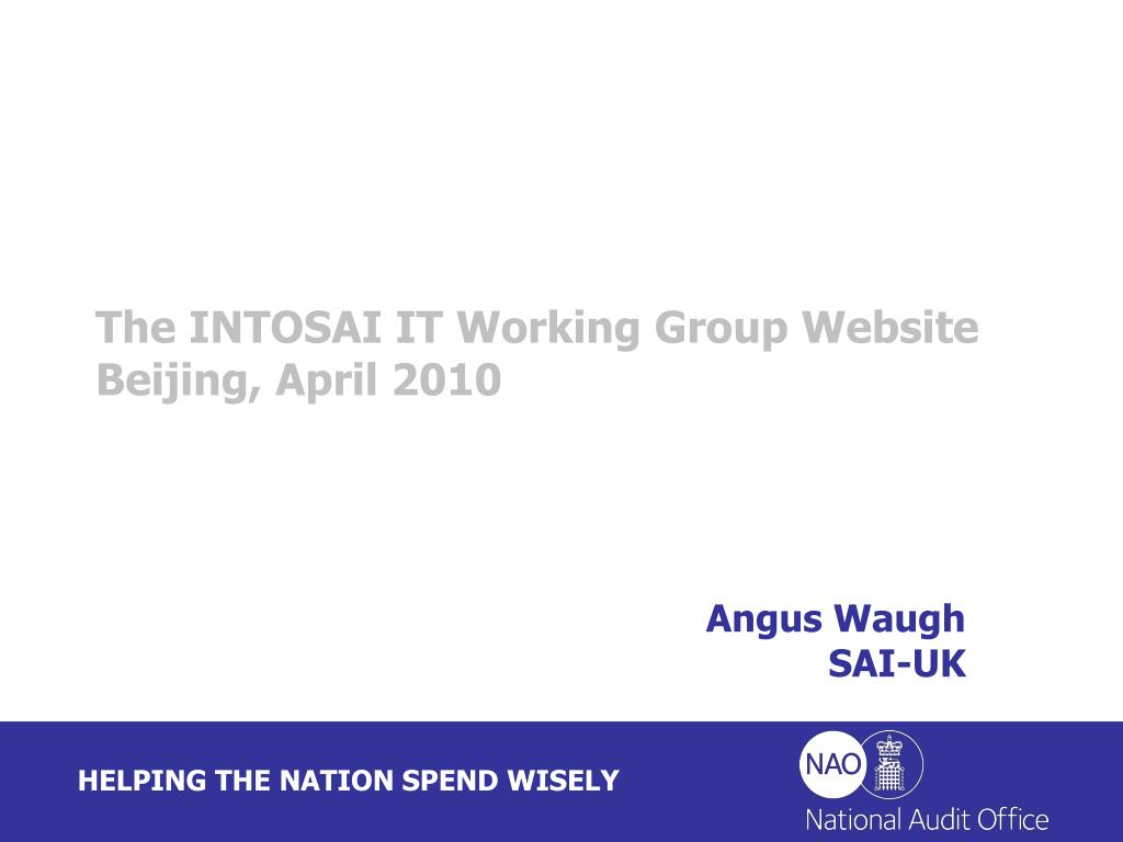 The INTOSAI IT Working Group Website