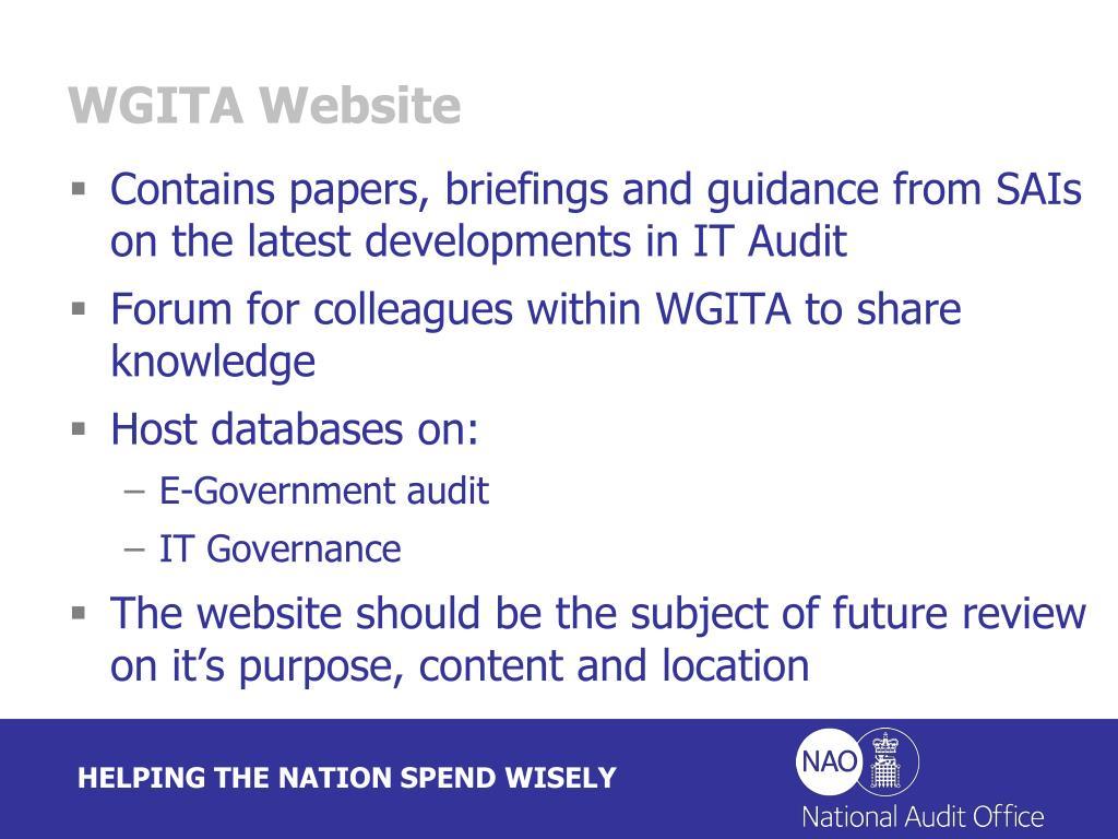 WGITA Website