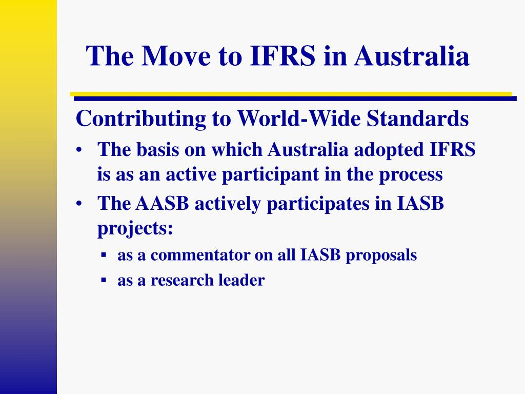 The Move to IFRS in Australia