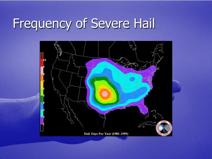 Frequency of Severe Hail