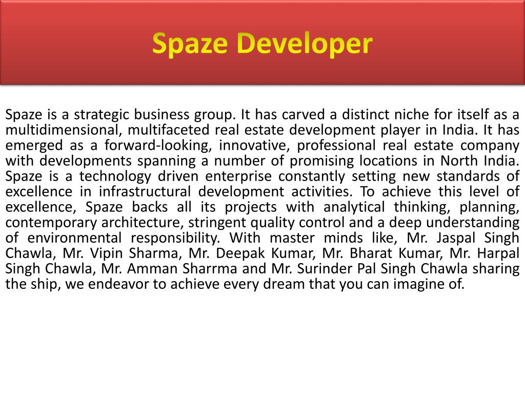 Spaze Developer