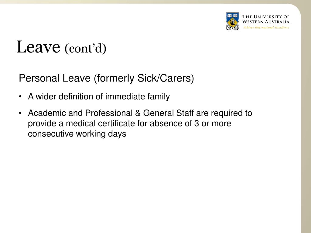 Personal Leave (formerly Sick/Carers)