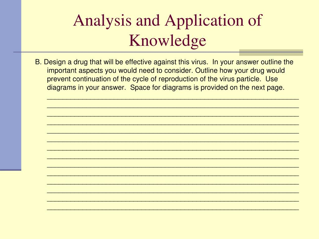 Analysis and Application of Knowledge