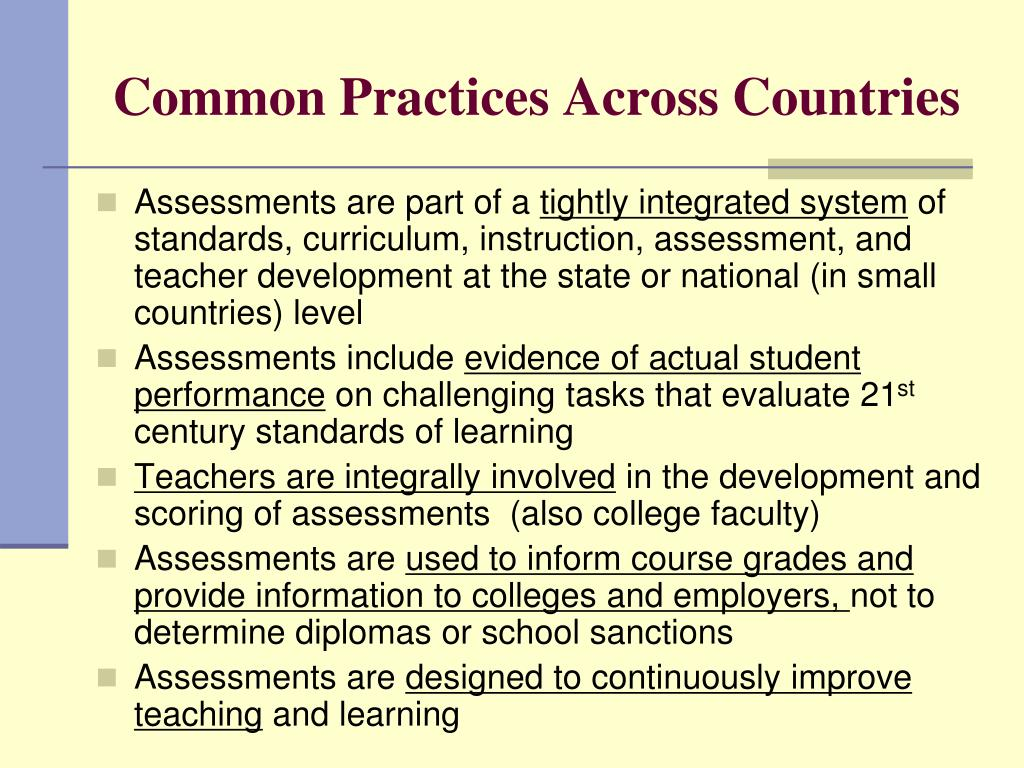 Common Practices Across Countries