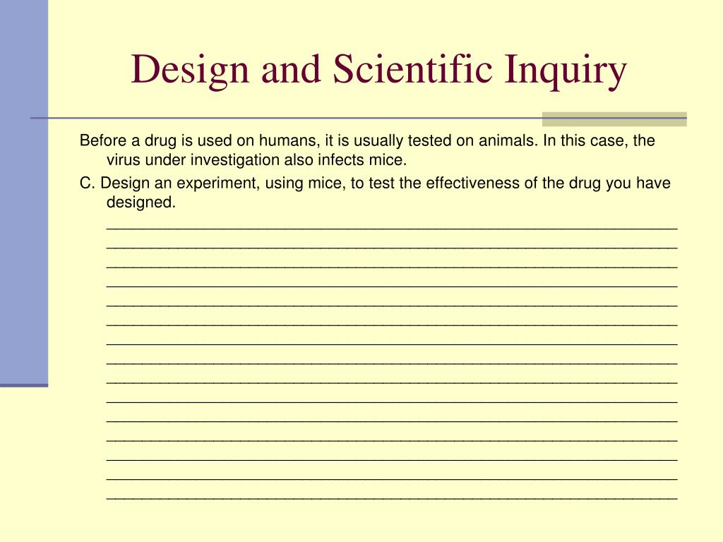 Design and Scientific Inquiry