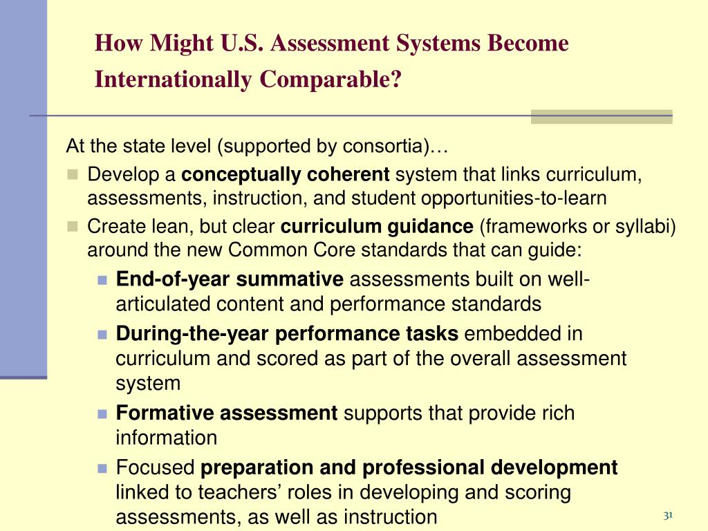 How Might U.S. Assessment Systems Become Internationally Comparable?