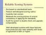 reliable scoring systems