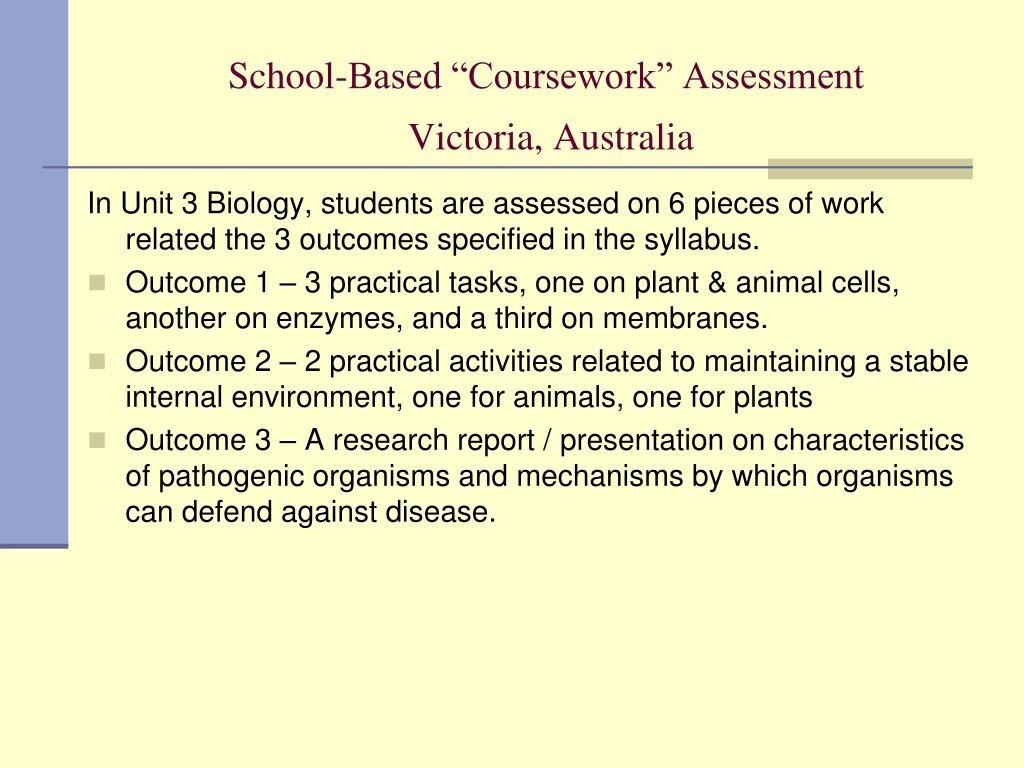 "School-Based ""Coursework"" Assessment"