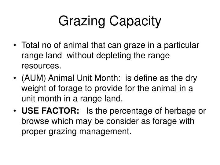 Grazing Capacity