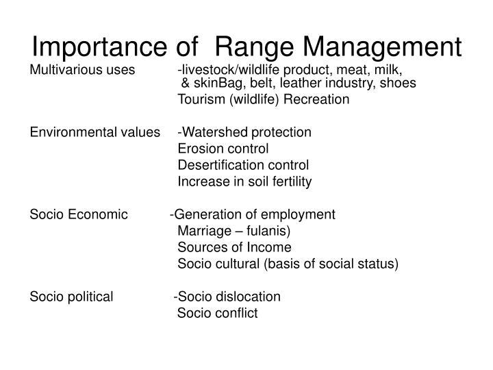 Importance of  Range Management