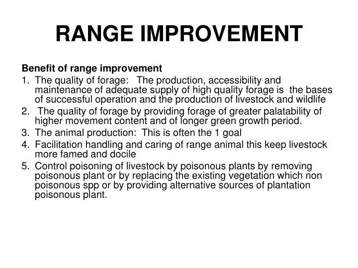 RANGE IMPROVEMENT