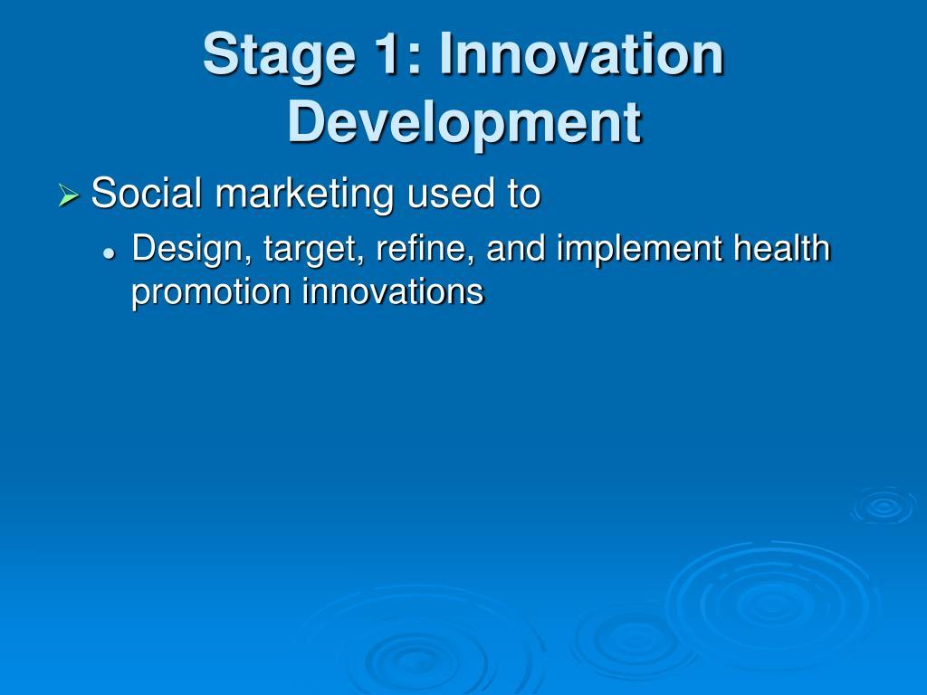 Stage 1: Innovation Development