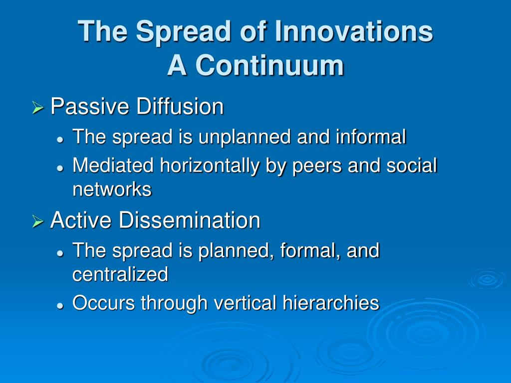 The Spread of Innovations