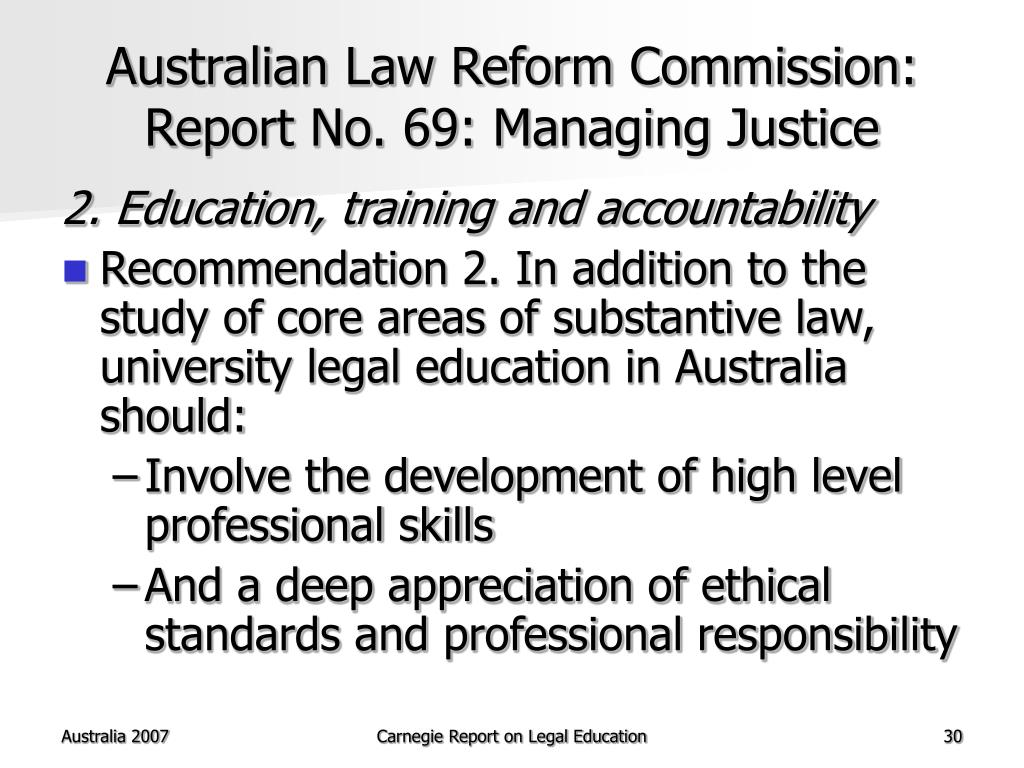 Australian Law Reform Commission: