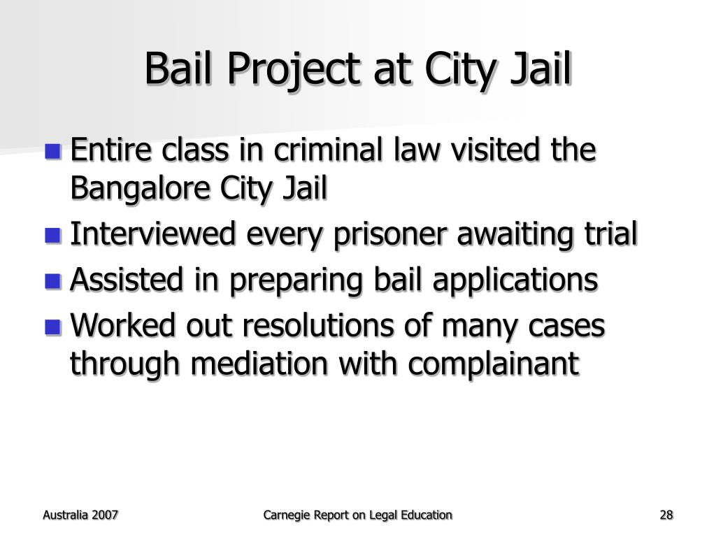 Bail Project at City Jail