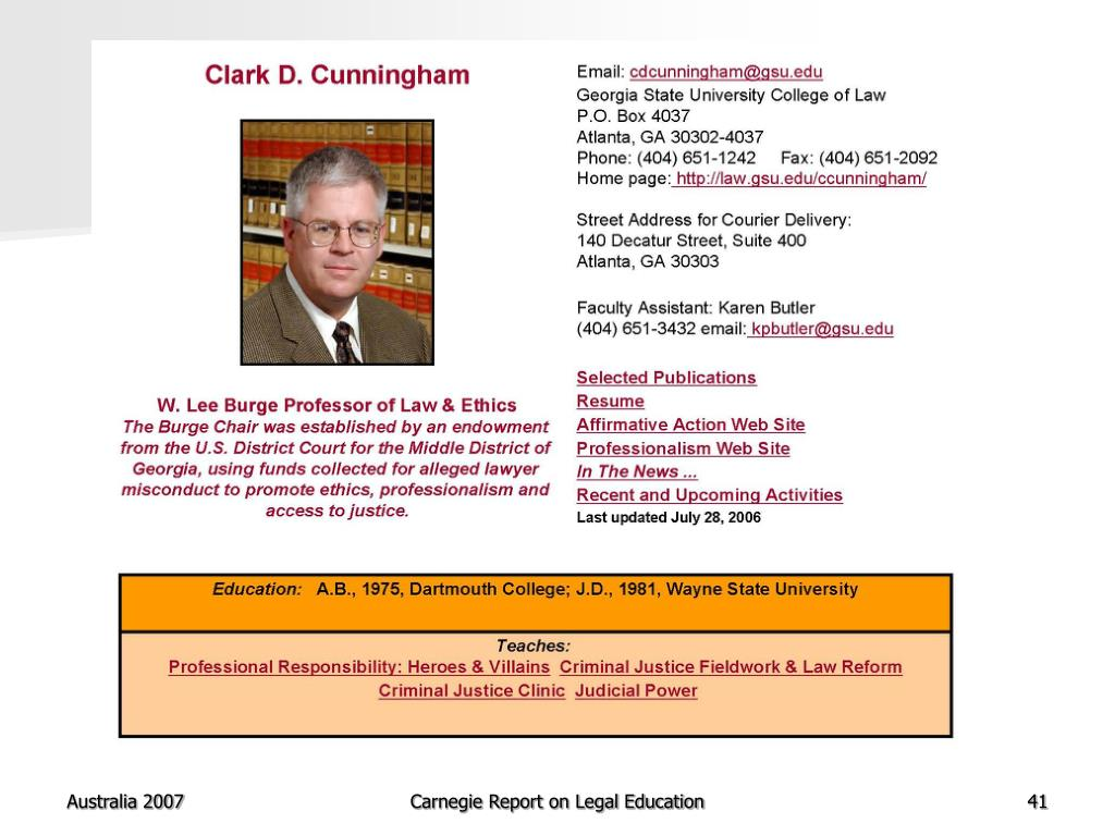 Carnegie Report on Legal Education