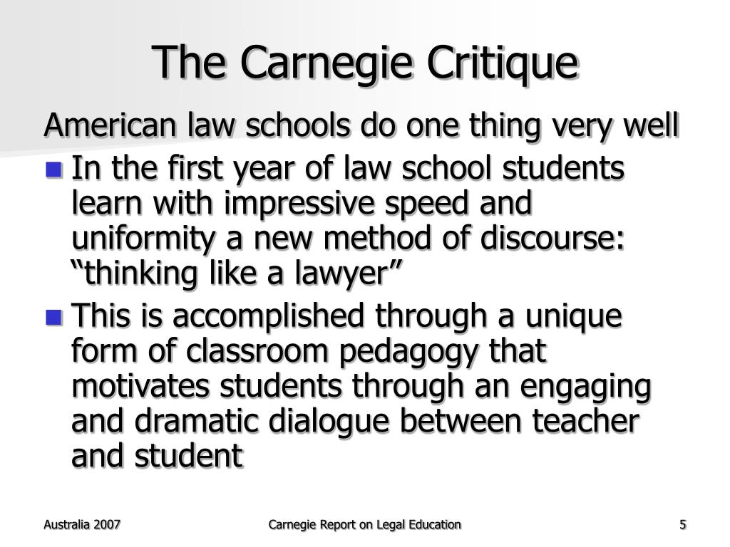 The Carnegie Critique