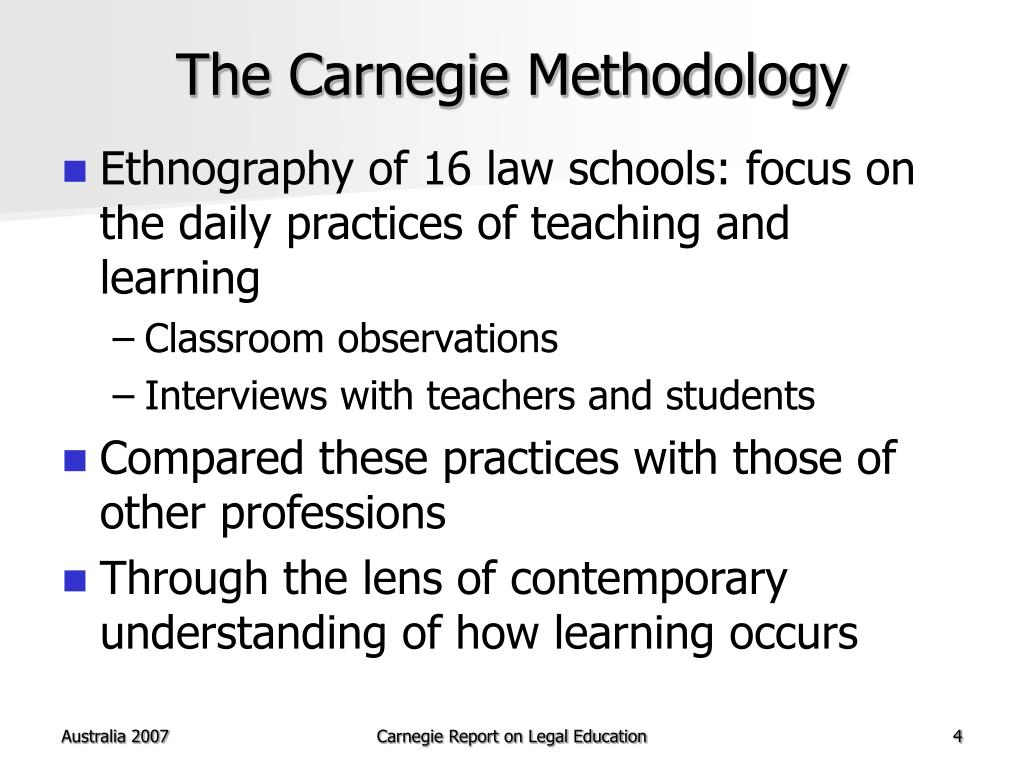 The Carnegie Methodology