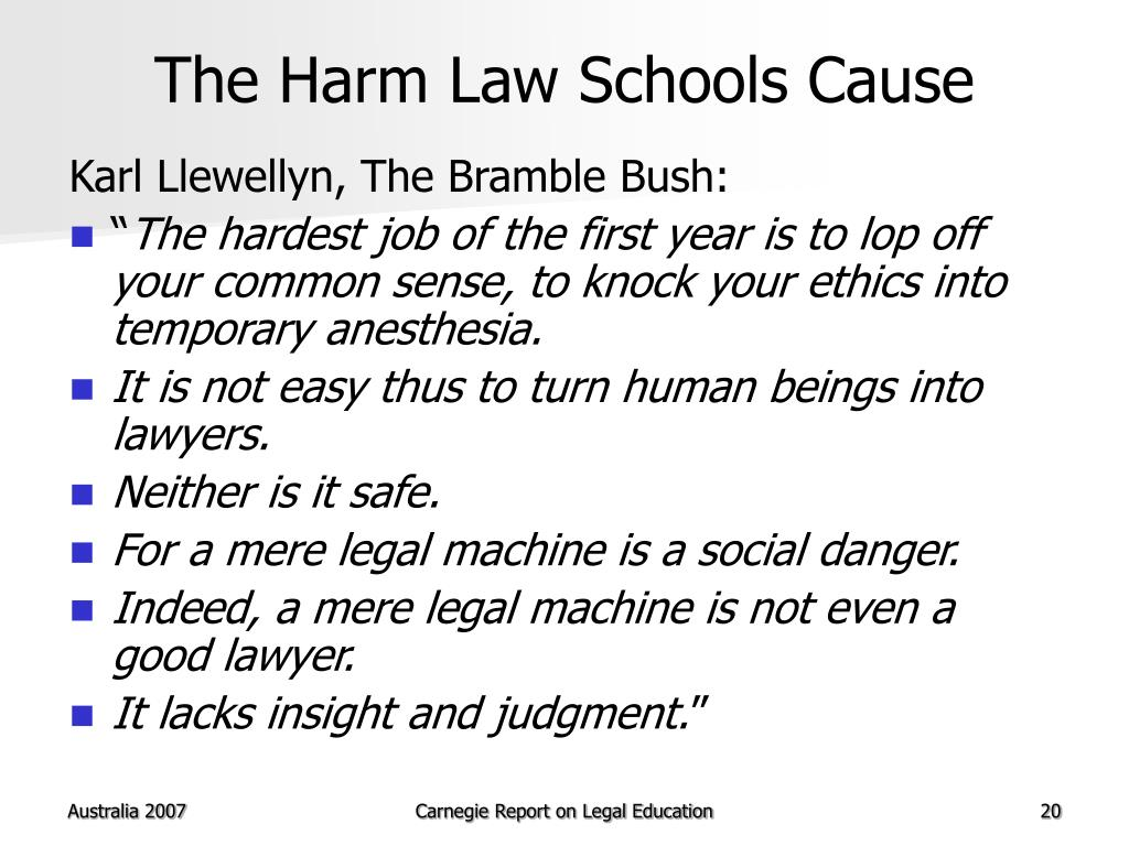 The Harm Law Schools Cause