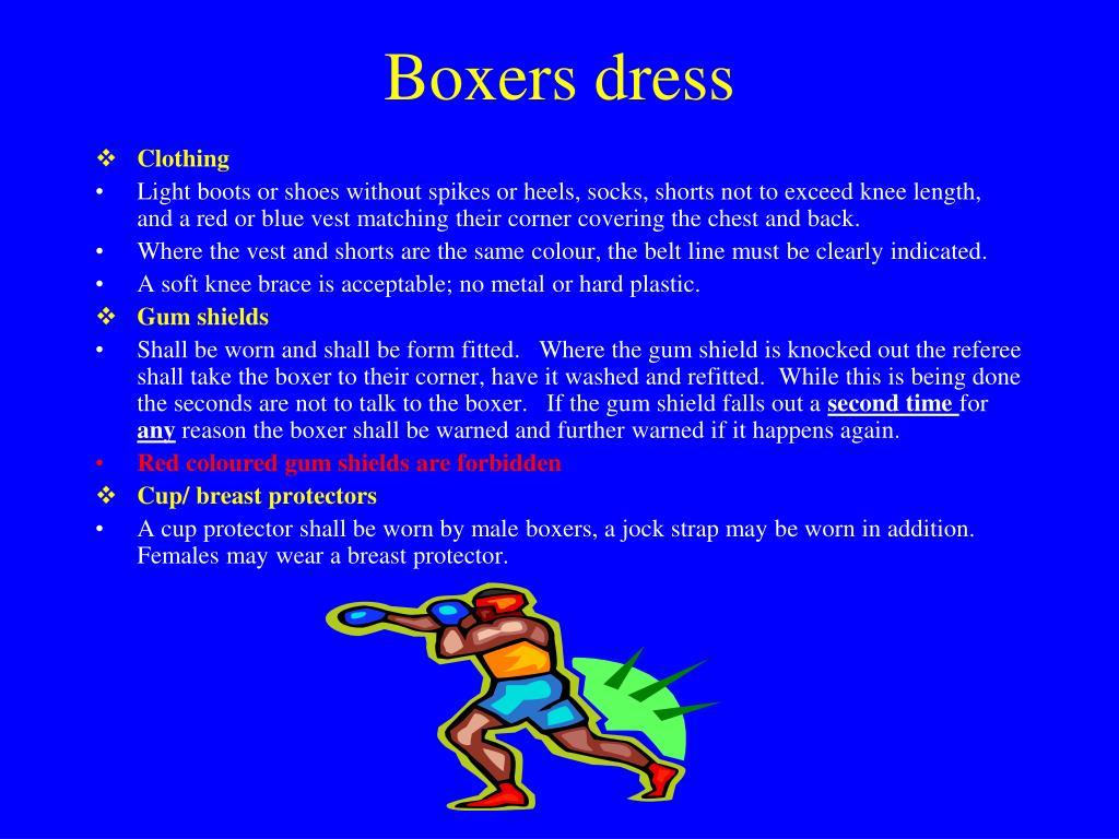 Boxers dress