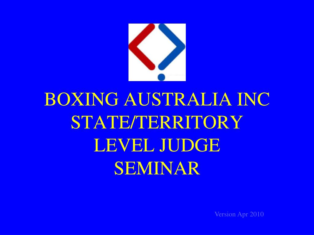 BOXING AUSTRALIA INC