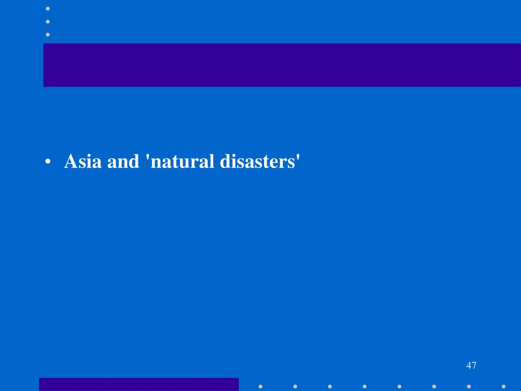 Asia and 'natural disasters'