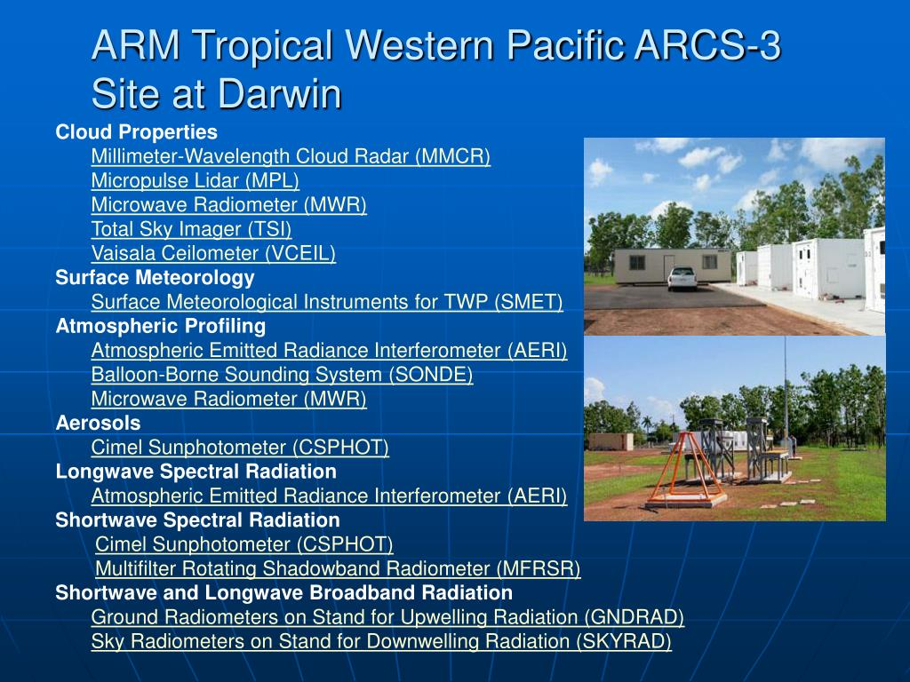 ARM Tropical Western Pacific ARCS-3 Site at Darwin