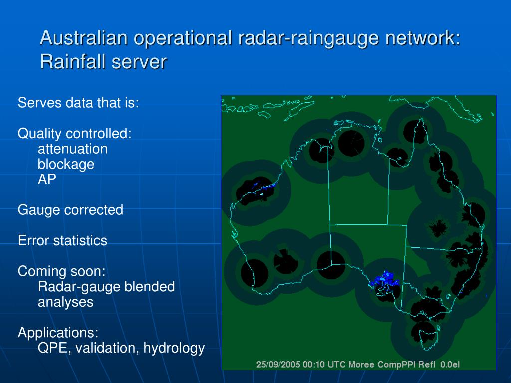 Australian operational radar-raingauge network:  Rainfall server