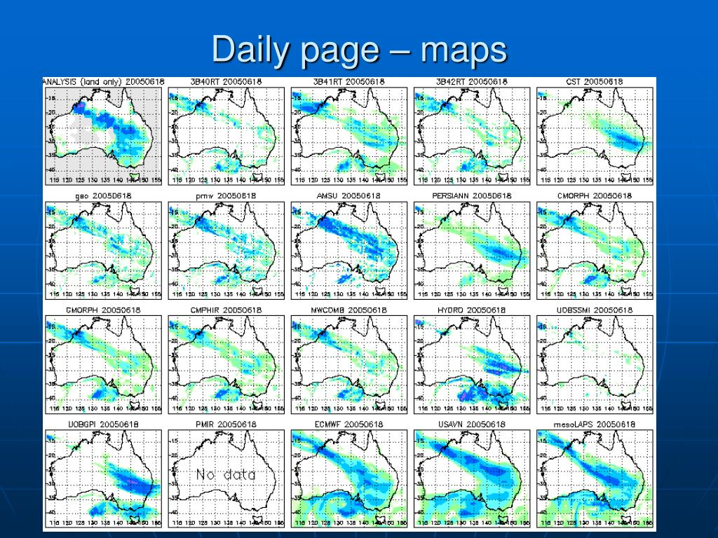 Daily page – maps