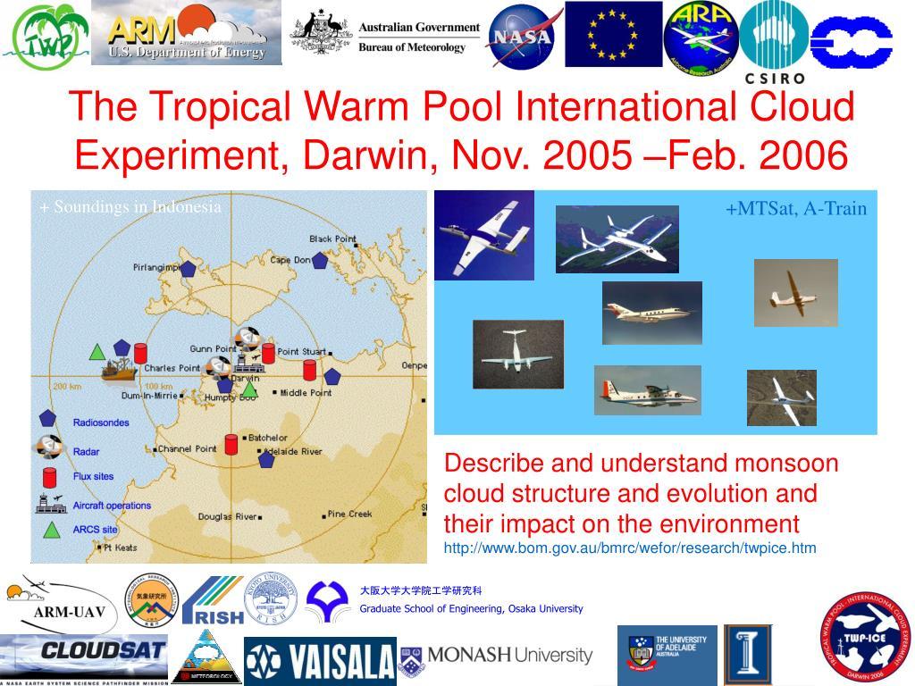 The Tropical Warm Pool International Cloud Experiment, Darwin, Nov. 2005 –Feb. 2006