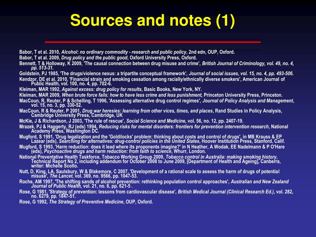 Sources and notes (1)