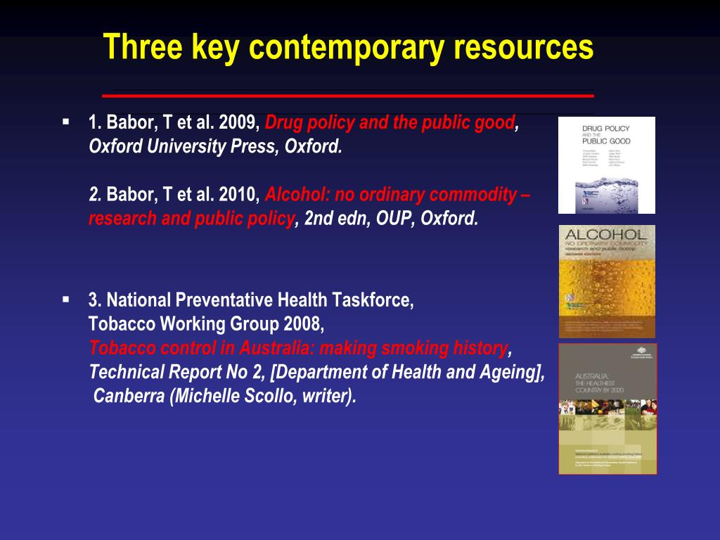 Three key contemporary resources
