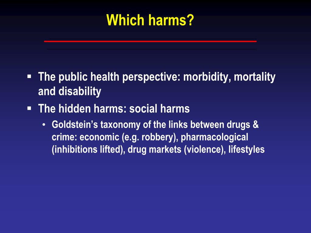 Which harms?