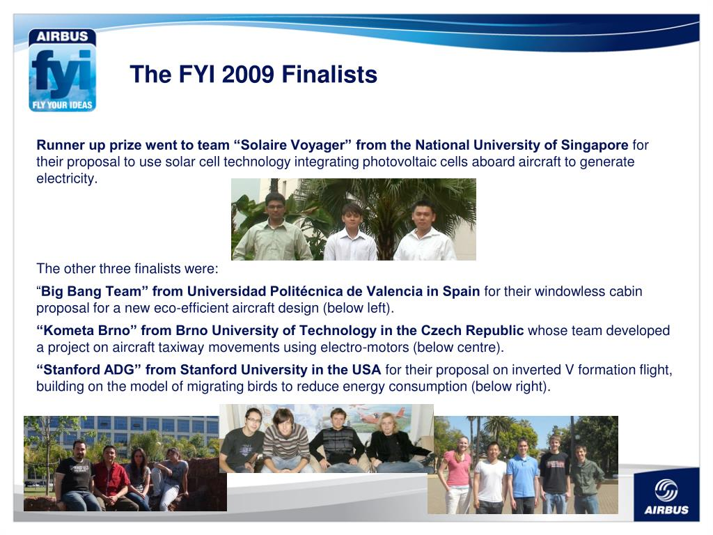 The FYI 2009 Finalists