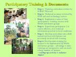 participatory training documents