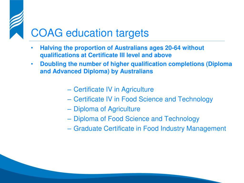 COAG education targets