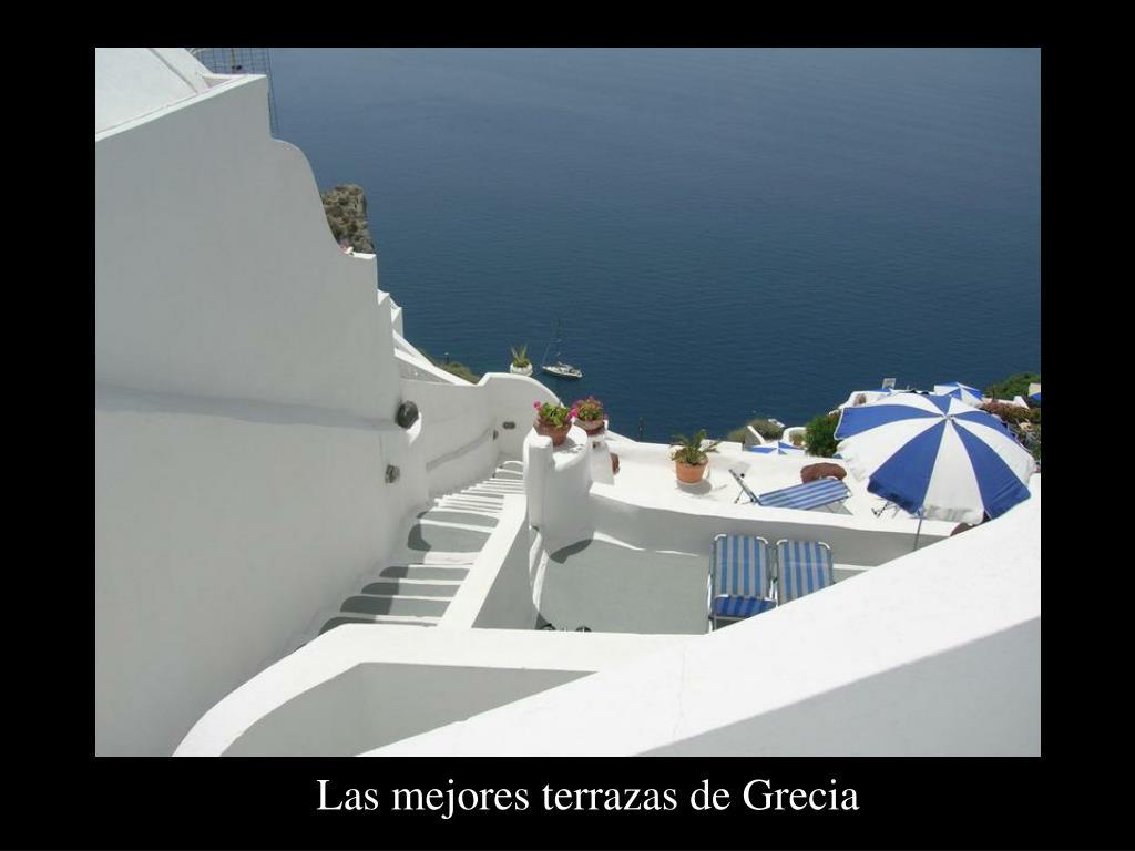 Las mejores terrazas de Grecia
