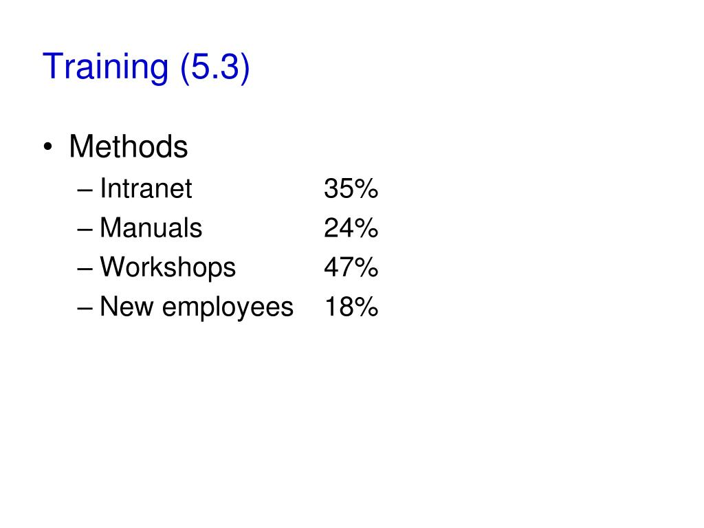 Training (5.3)