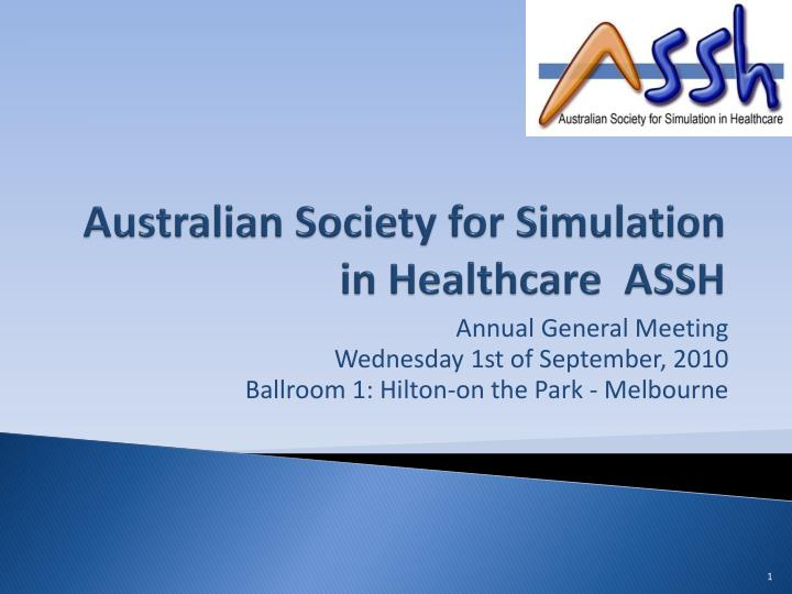 Australian society for simulation in healthcare assh l.jpg