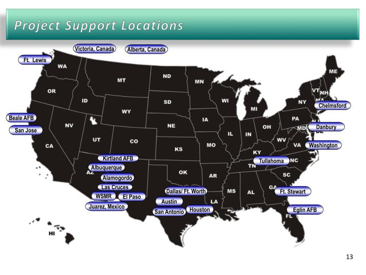 Project Support Locations
